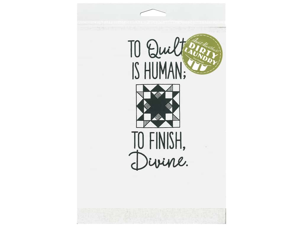 Aunt Martha's Dirty Laundry Tea Towel - To Quilt Is Human