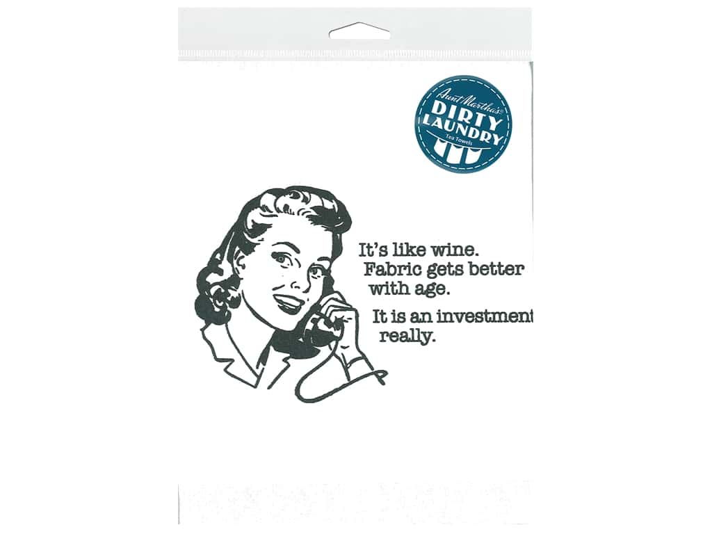 Aunt Martha's Dirty Laundry Tea Towel - It's Like Wine