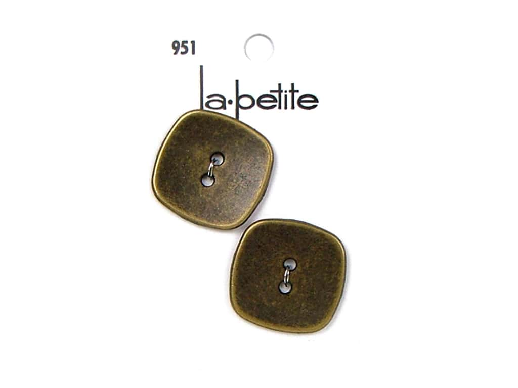 LaPetite Buttons - 2 Hole - 1 1/8 in. Antique Gold 2 pc.
