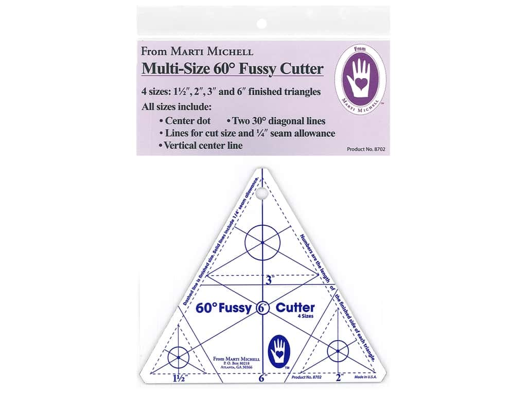 Marti Michell 60-degree Fussy Cutter Template