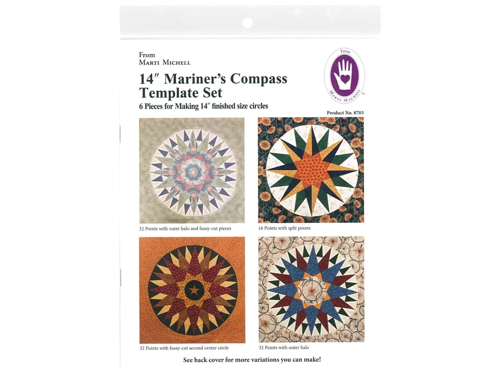 Marti Michell Mariner's Compass Template Set - 14 in.
