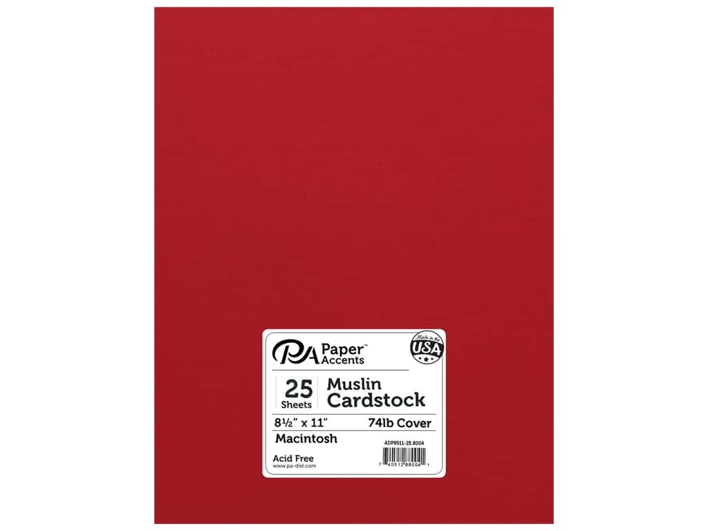 Paper Accents Cardstock 8 1/2 x 11 in. #8004 Muslin Macintosh 25 pc.