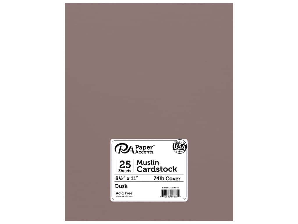 Paper Accents Cardstock 8 1/2 x 11 in. #8075 Muslin Dusk 25 pc.