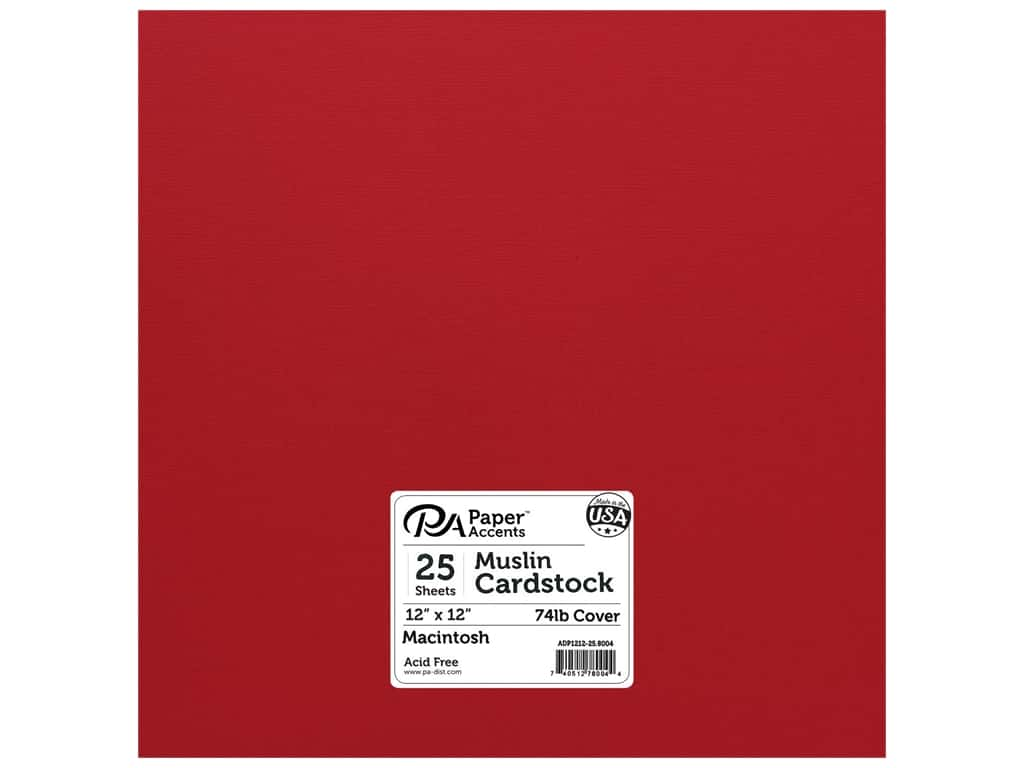 Paper Accents Cardstock 12 x 12 in. #8004 Muslin Macintosh 25 pc.