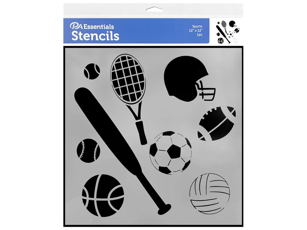 PA Essentials Stencil 12 x 12 in. Sports