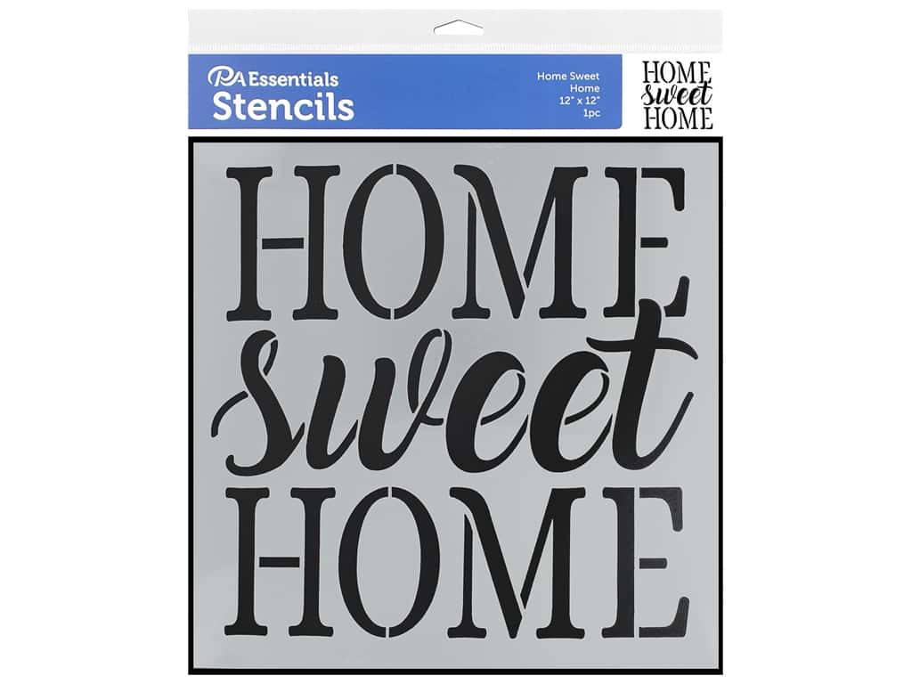 PA Essentials Stencil 12 x 12 in. Home Sweet Home