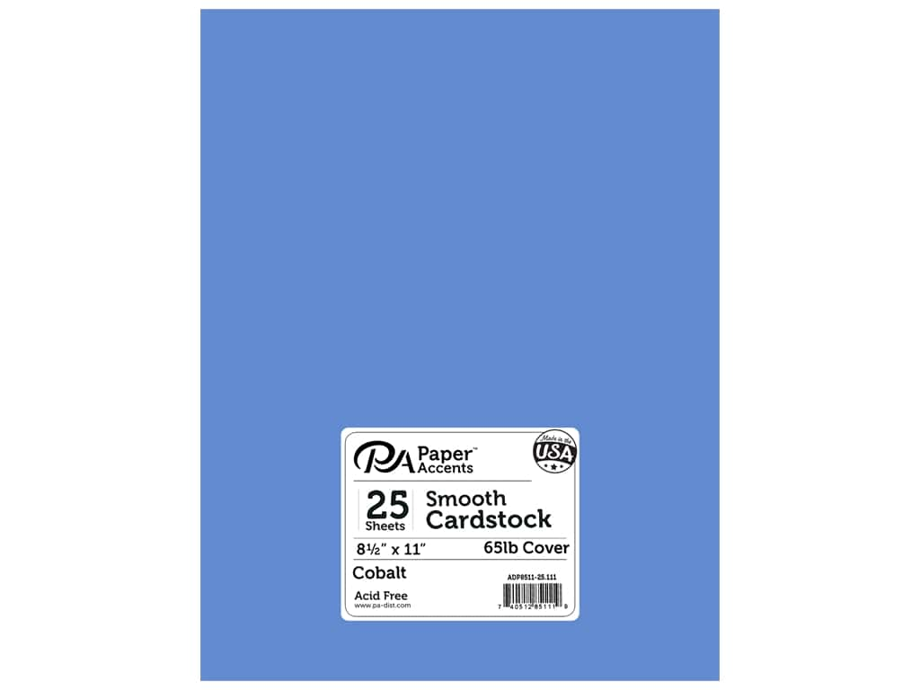 Paper Accents Cardstock 8 1/2 x 11 in. #111 Smooth Cobalt 25 pc.