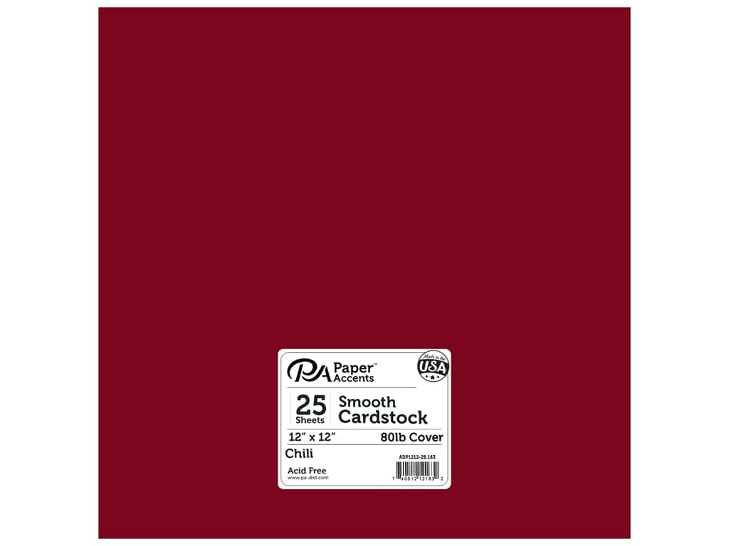 Paper Accents Cardstock 12 x 12 in. #163 Smooth Chili 25 pc.