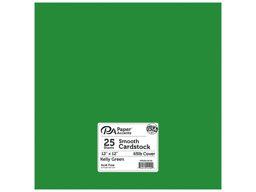 Paper Accents Cardstock 12 x 12 in. #102 Smooth Kelly Green (25 sheets)