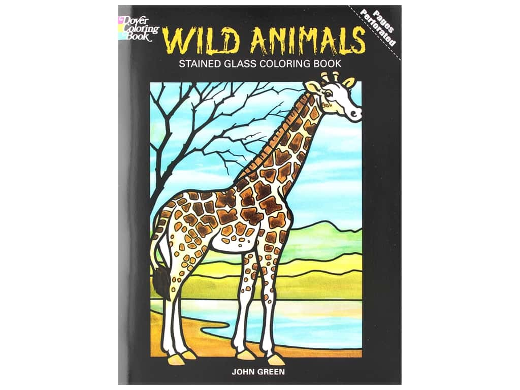 Dover Publications Wild Animals Stained Glass Coloring Book