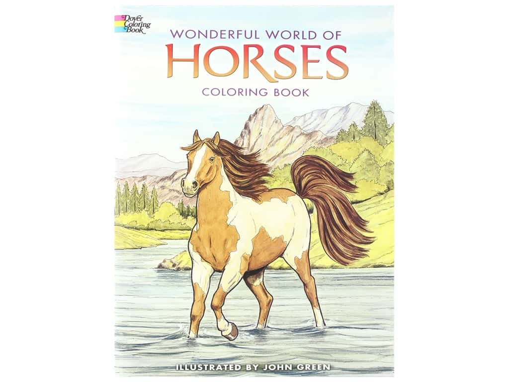 Dover Publications Wonderful World Of Horses Coloring Book