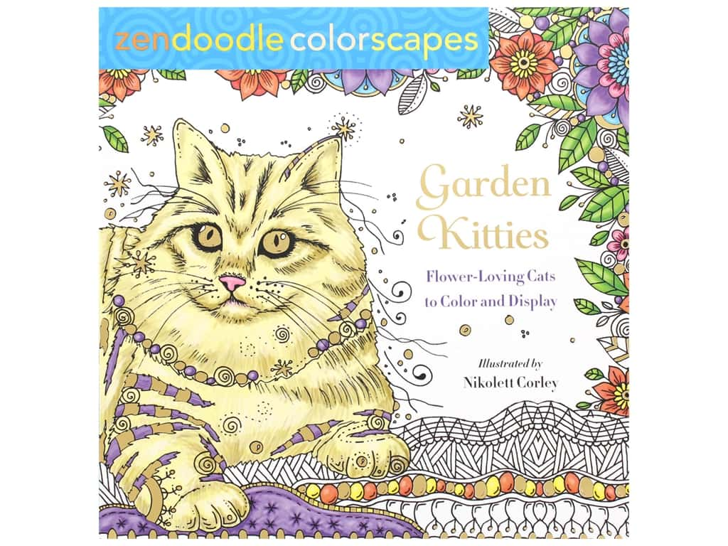 St Martin's Griffin Zendoodle Garden Kitties Coloring Book