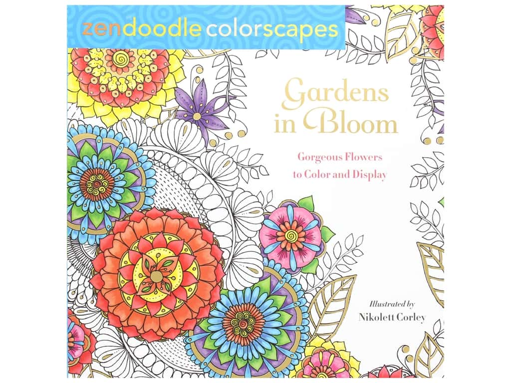 St Martin's Griffin Zendoodle Gardens In Bloom Coloring Book