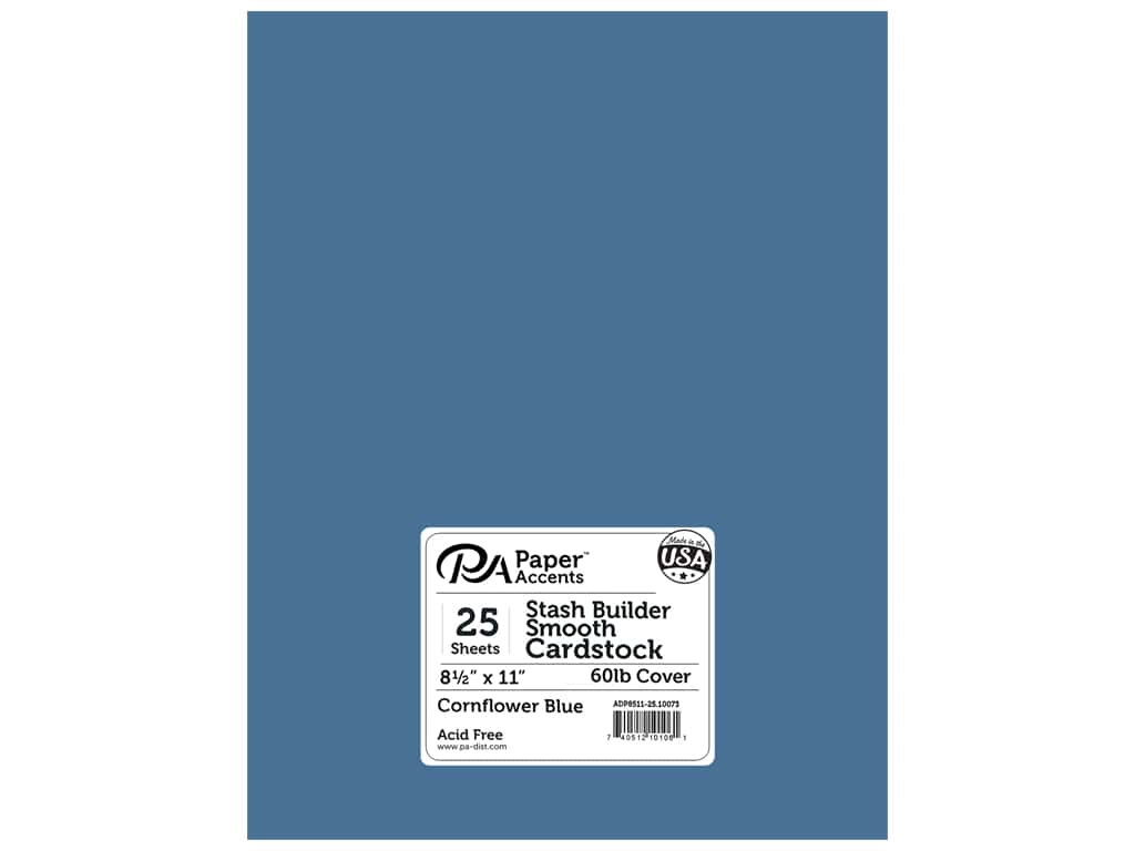 Paper Accents Cardstock 8 1/2 x 11 in. #10073 Stash Buidler Cornflower Blue 25 pc.