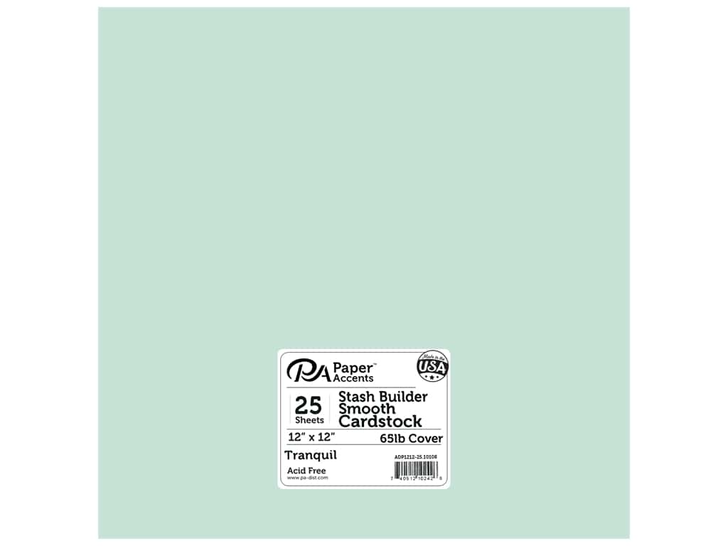 Paper Accents Cardstock 12 x 12 in. #10108 Stash Builder Tranquil (25 sheets)