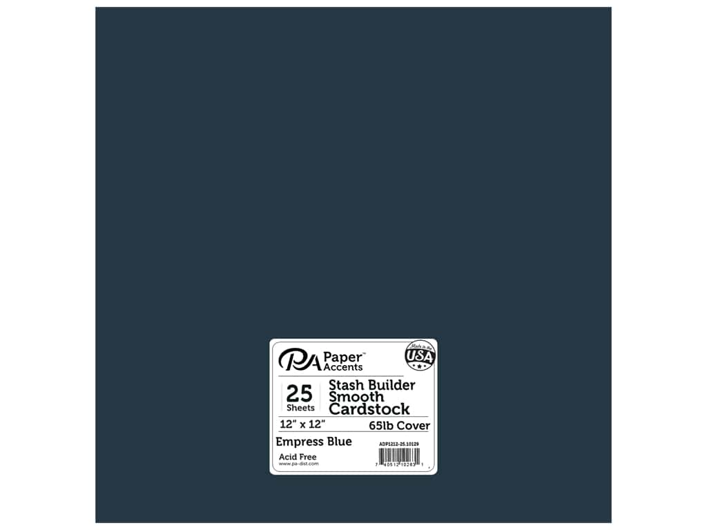 Paper Accents Cardstock 12 x 12 in. #10129 Stash Builder Empress Blue 25 pc.