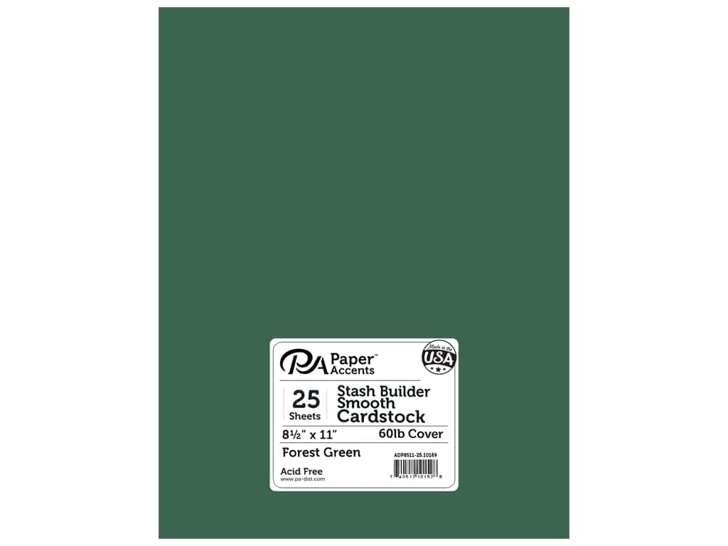 Paper Accents Cardstock 8 1/2 x 11 in. #10169 Stash Builder Forest Green 25 pc.