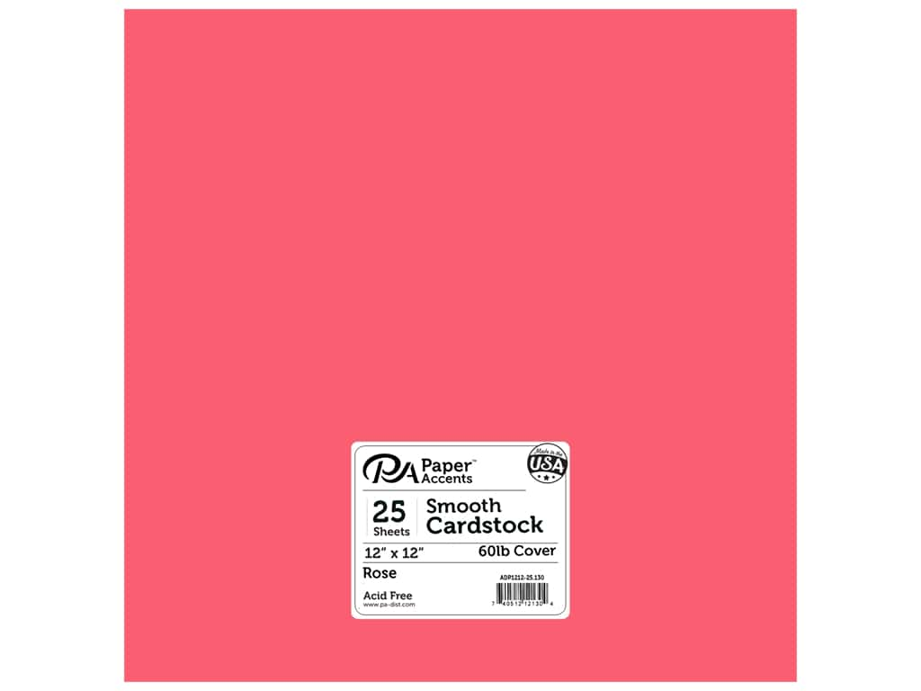 Paper Accents Cardstock 12 x 12 in. #130 Smooth Rose 25 pc.