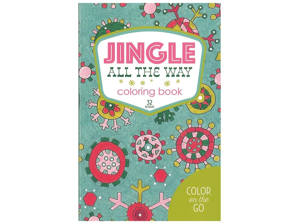 Leisure Arts Jingle All The Way Coloring Book