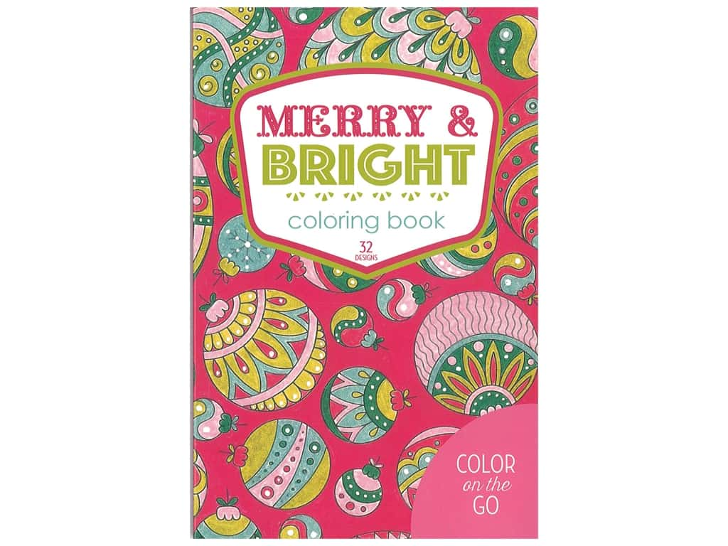 Leisure Arts Merry & Bright Coloring Book