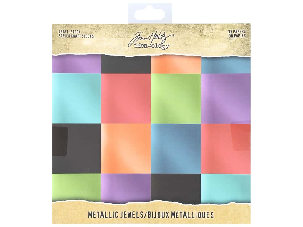 Tim Holtz Idea-ology Paper Stash 8 in. x 8 in. Metallic Jewels