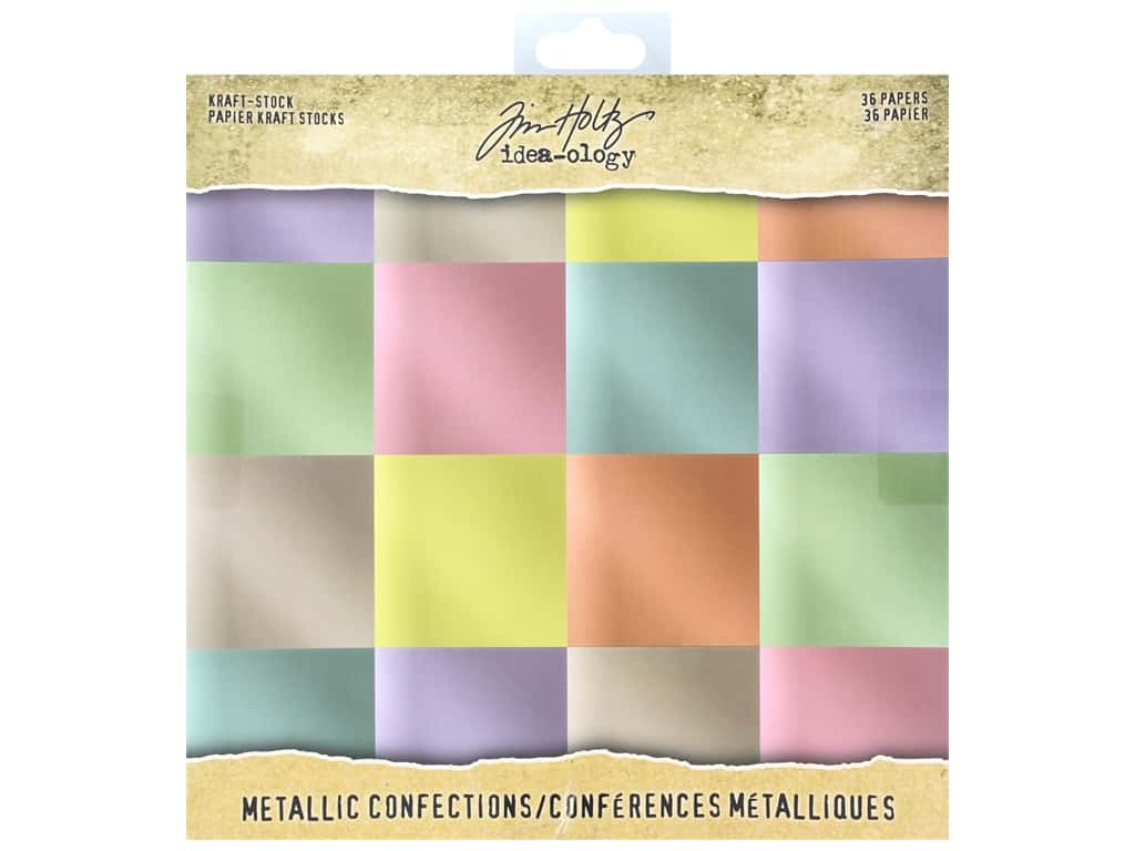 Tim Holtz Idea-ology Paper Stash 8 in. x 8 in. Metallic Confections