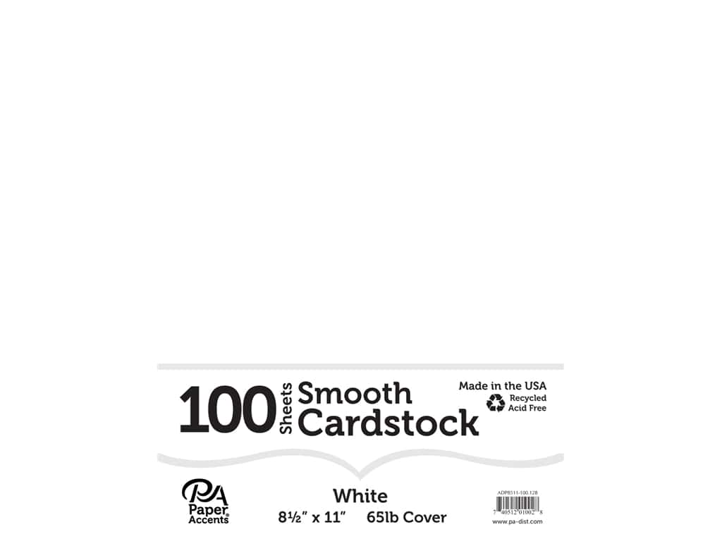 Paper Accents Cardstock 8 1/2 x 11 in. #128 Smooth White 100 pc.