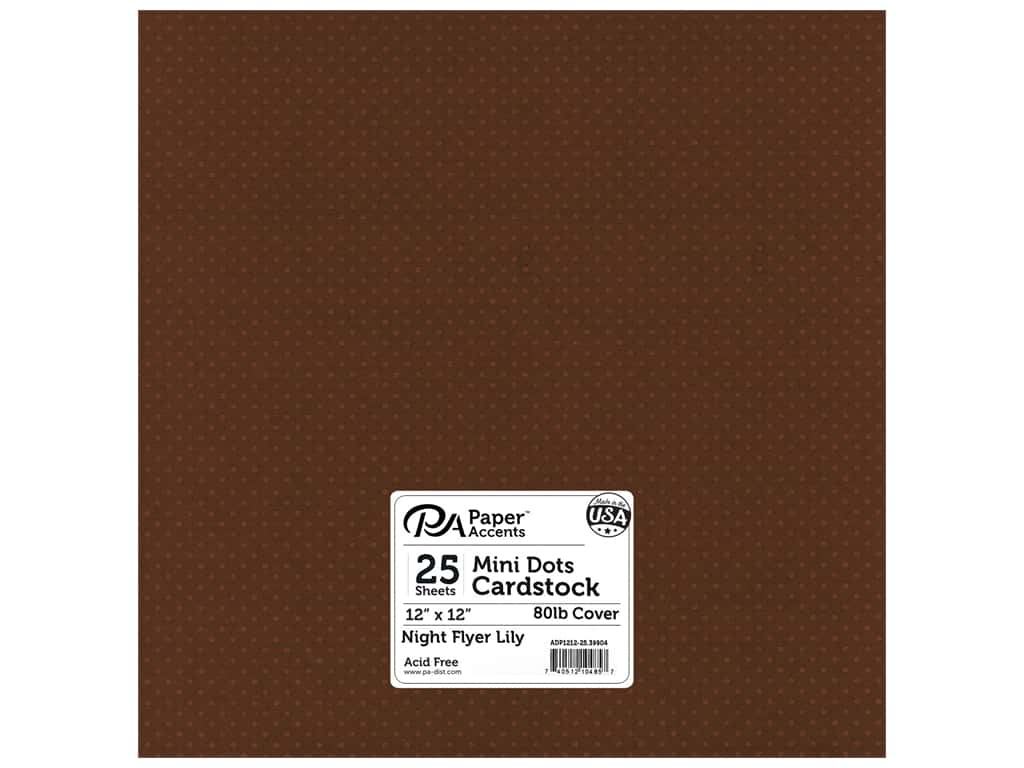 Paper Accents Cardstock 12 x 12 in. #39904 Mini Dot Night Flyer Lily 25 pc.