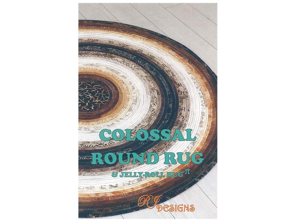 RJ Designs Jelly Roll Rug Colossal Round Pattern