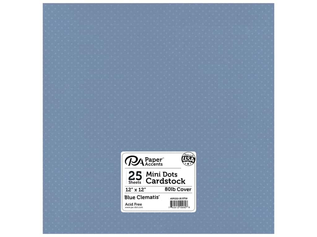 Paper Accents Cardstock 12 x 12 in. #37718 Mini Dot Blue Clematis 25 pc.