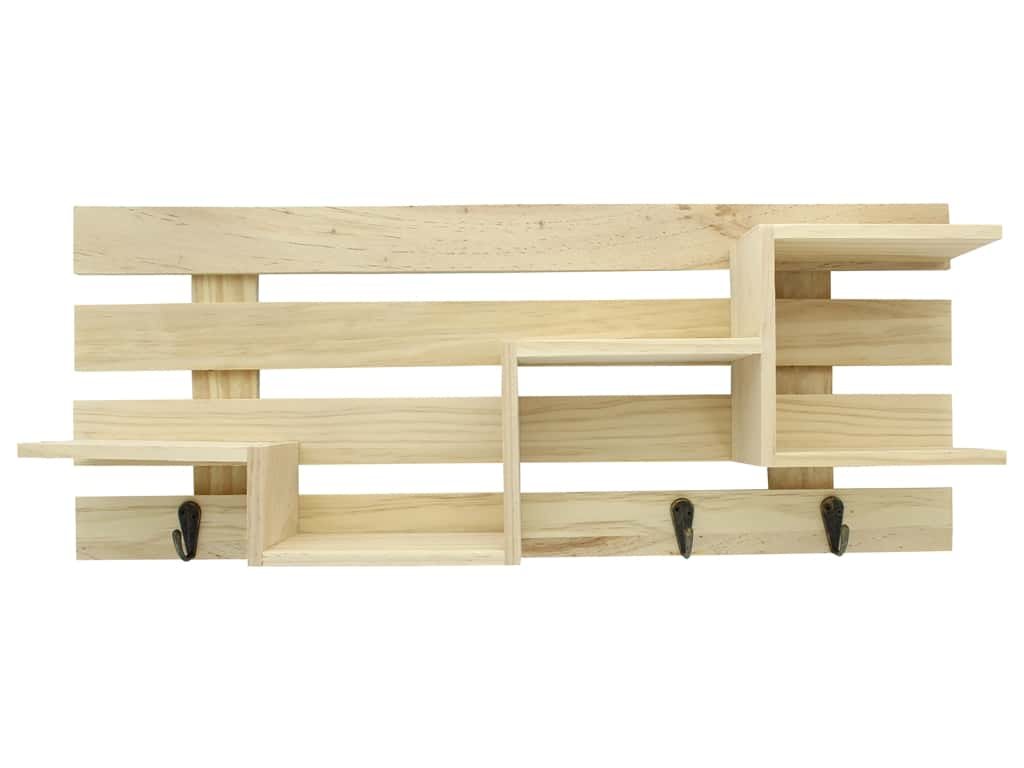 Sierra Pacific Crafts Wood Pallet Shelf Unfinished 20 in. x 3.25 in. x 8 in.