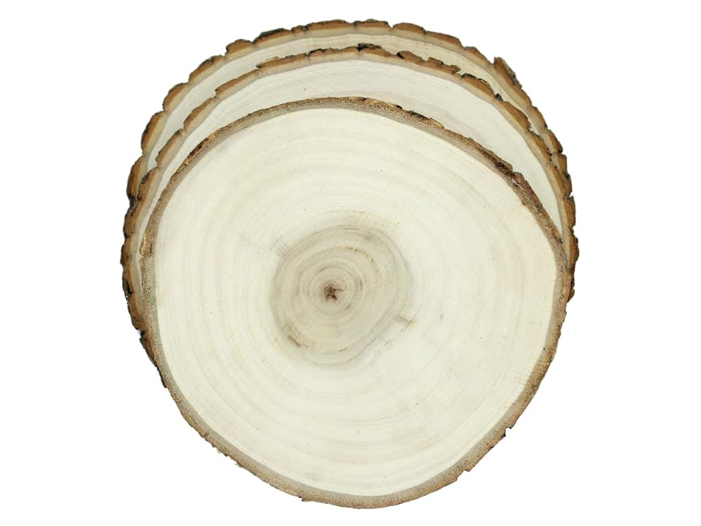 Sierra Pacific Crafts Wood Slice Round 7.5 in. Natural