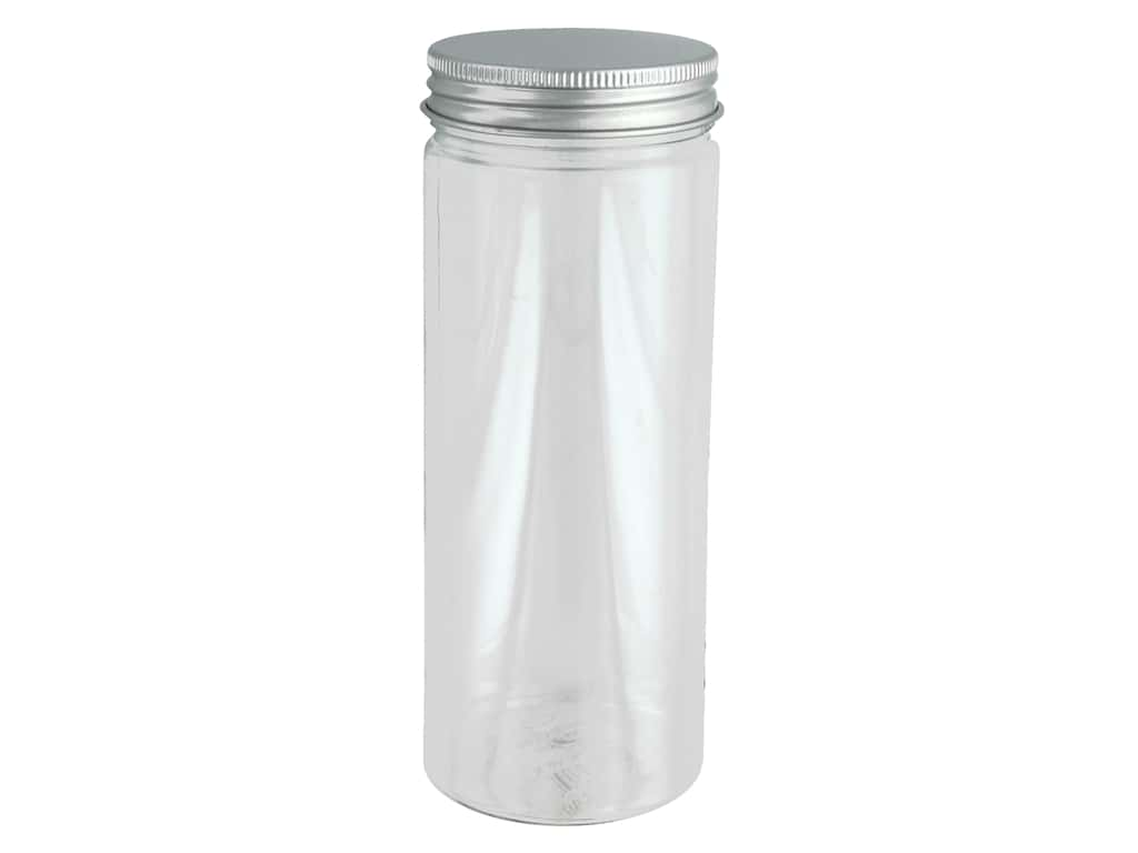 Sierra Pacific Crafts Storage Plastic Jar With Lid 2.5 in. x 6.5 in.