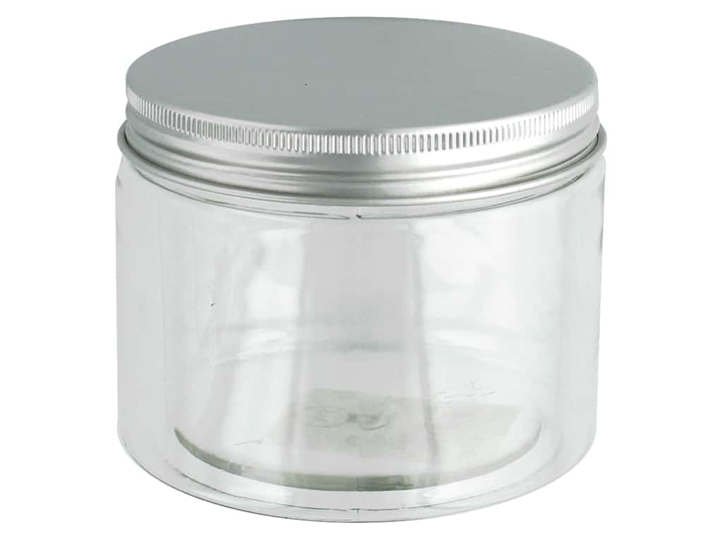 Sierra Pacific Crafts Storage Plastic Jar With Lid 3.5 in. x 2.88 in.