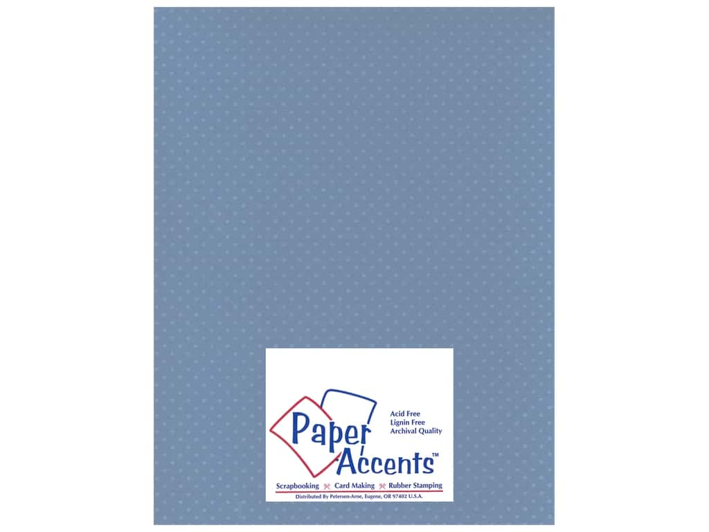 Paper Accents Cardstock 8 1/2 x 11 in. #37718 Mini Dot Blue Clematis (25 sheets)