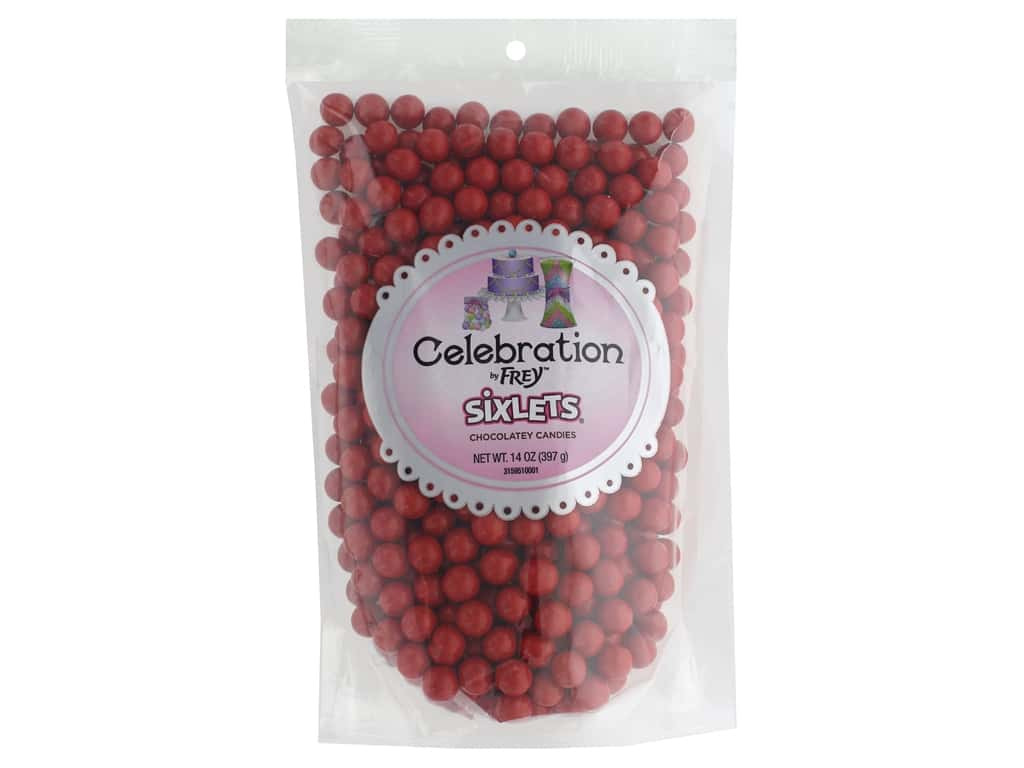 SweetWorks Celebration Sixlets 14 oz. Red