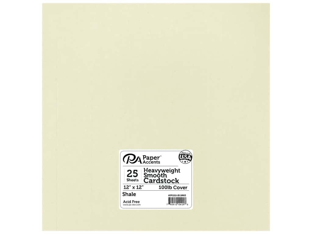 Paper Accents Cardstock 12 x 12 in. #18803 Heavyweight Smooth Shale 25 pc.
