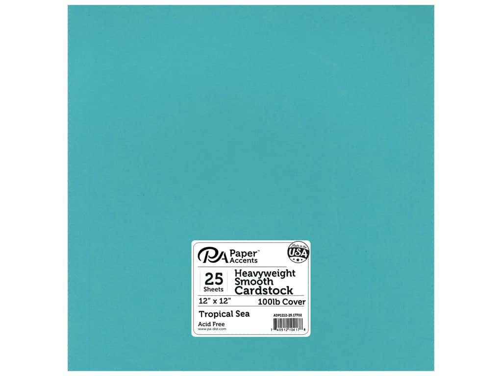 Paper Accents Cardstock 12 x 12 in. #17702 Heavyweight Smooth Tropical Sea 25 pc.