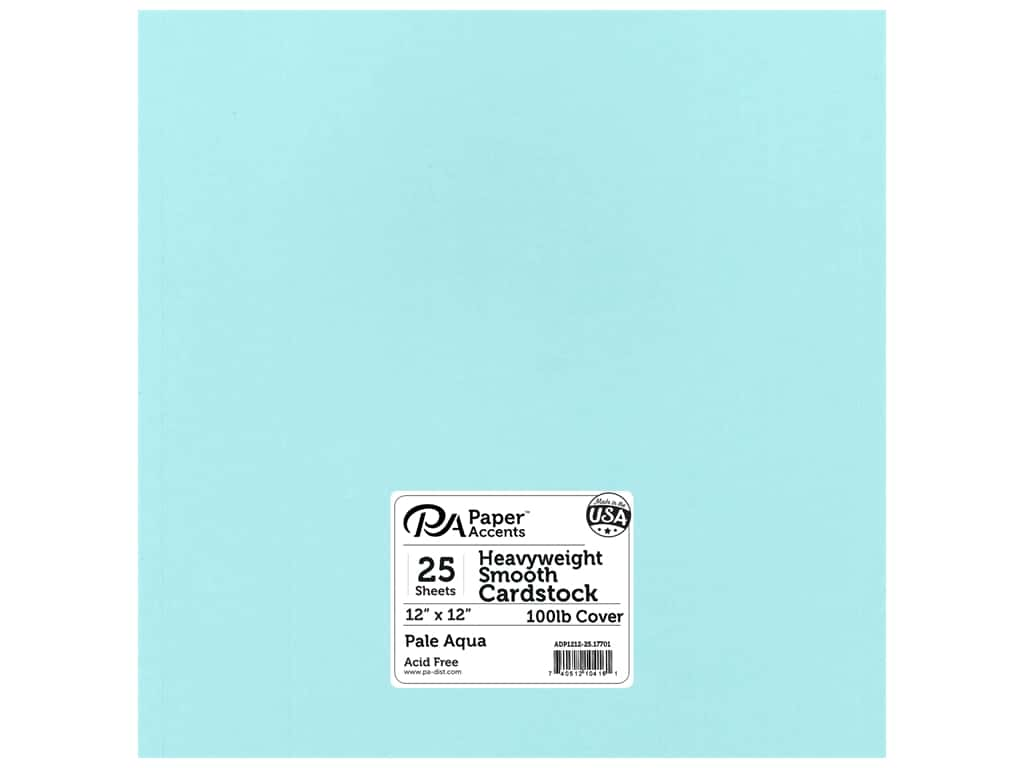 Paper Accents Cardstock 12 x 12 in. #17701 Heavyweight Smooth Pale Aqua 25 pc.