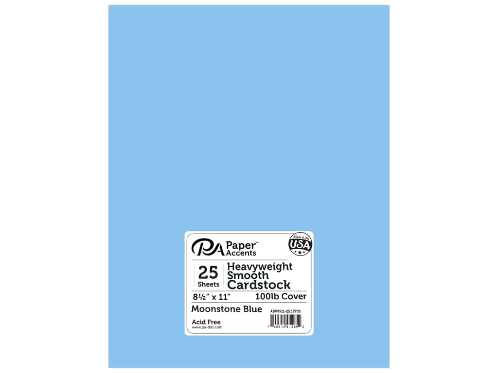 Paper Accents Cardstock 8 1/2 x 11 in. #17705 Heavyweight Smooth Moonstone Blue 25 pc.