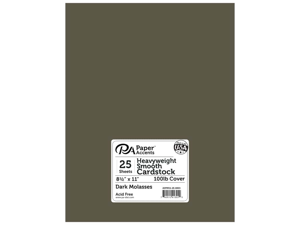 Paper Accents Cardstock 8 1/2 x 11 in. #19901 Heavyweight Smooth Dark Molasses 25 pc.