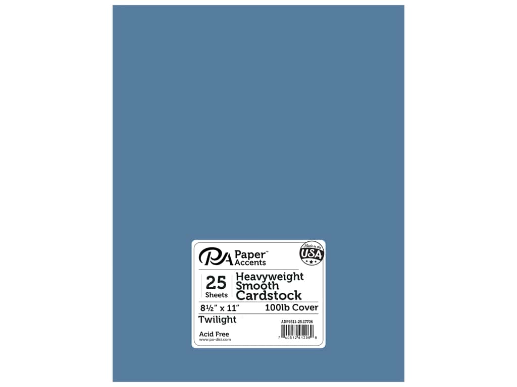 Paper Accents Cardstock 8 1/2 x 11 in. #17706 Heavyweight Smooth Twilight 25 pc.