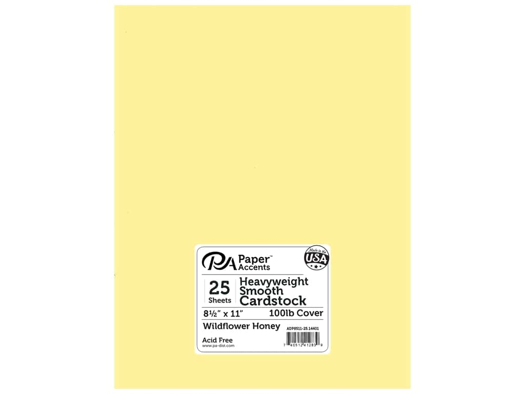 Paper Accents Cardstock 8 1/2 x 11 in. #14401 Heavyweight Smooth Wildflower Honey 25 pc.