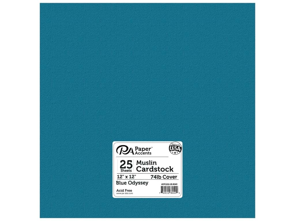Paper Accents Cardstock 12 x 12 in. #8040 Muslin Blue Odyssey (25 sheets)