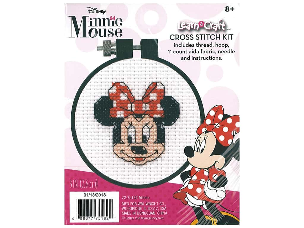 Dimensions Counted Cross Stitch Kit 3 in. Disney's Minnie