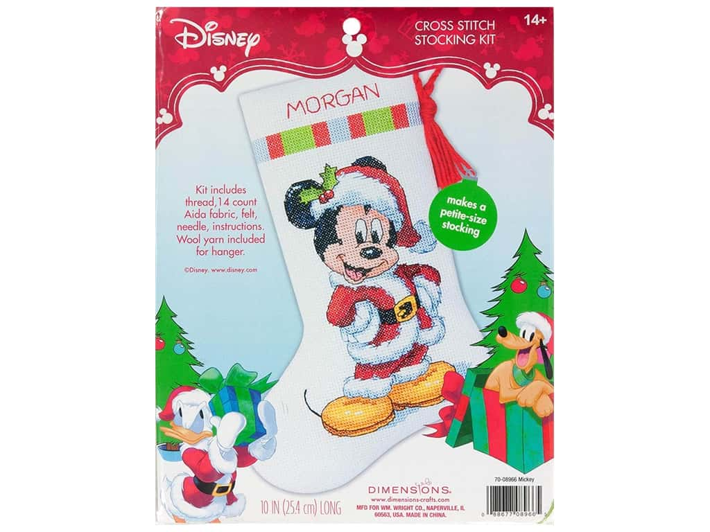 Dimensions Counted Cross Stitch Kit Mickey Stocking