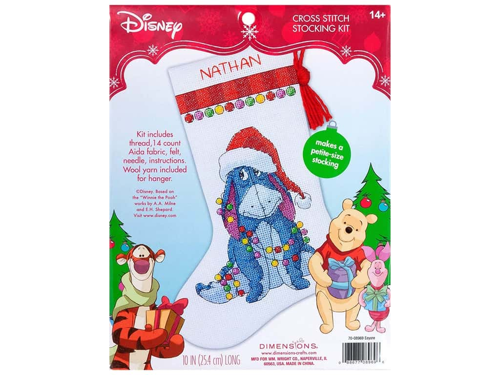 Dimensions Counted Cross Stitch Kit Eeyore Stocking