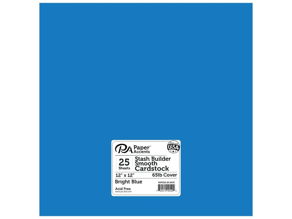 Paper Accents Cardstock 12 x 12 in. #18133 Stash Builder Bright Blue 25 pc.