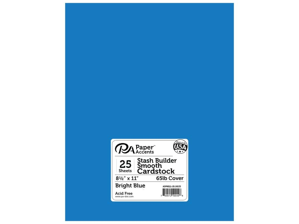 Paper Accents Cardstock 8 1/2 x 11 in. #18133 Stash Builder Bright Blue 25 pc.