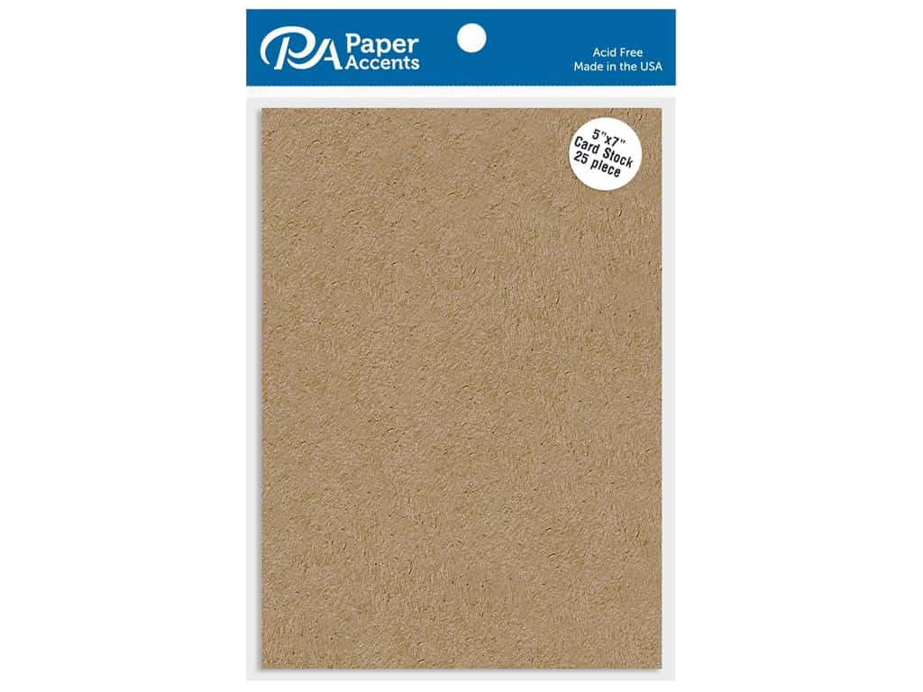 Paper Accents Cardstock Shape 5 in. x 7 in. 65 lb Kraft 25 pc
